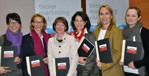 von links nach rechts: Gertraud Dornbusch, Barbara Traweger-Ravanelli, Regine Sparber, Claudia Angerer-Foissner, Marie-Therese Jutz und Ines Racz-Senn
